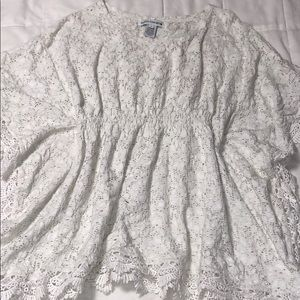 White Lace over top size Small